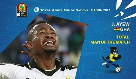 Jordan Ayew scoops man of the match in Ghana-Dr Congo duel