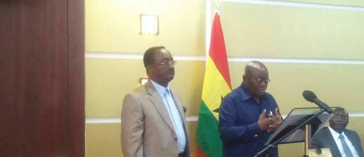 President Akufo Addo announces His Designate Ministers