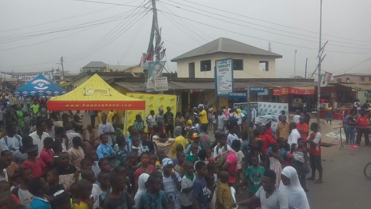 Massive Turnout at Happy FM Cowbell AFCON Opening Game Screening
