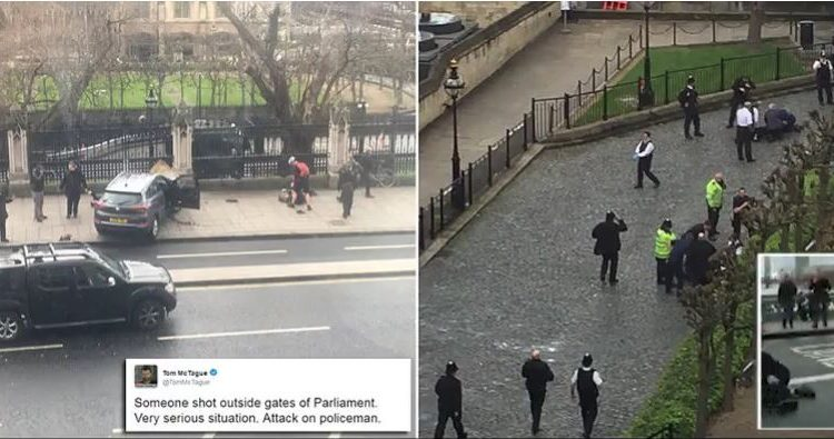 Police Shoot 'Knife Wielding Man' Outside Parliament After Car Mows Down Five People On Westminster Bridge