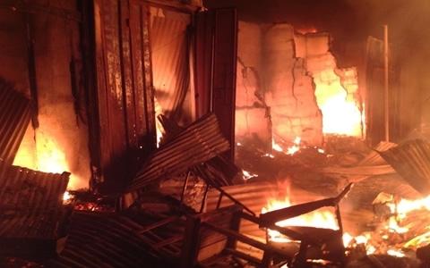 Several shops razed down in Odorkor fire