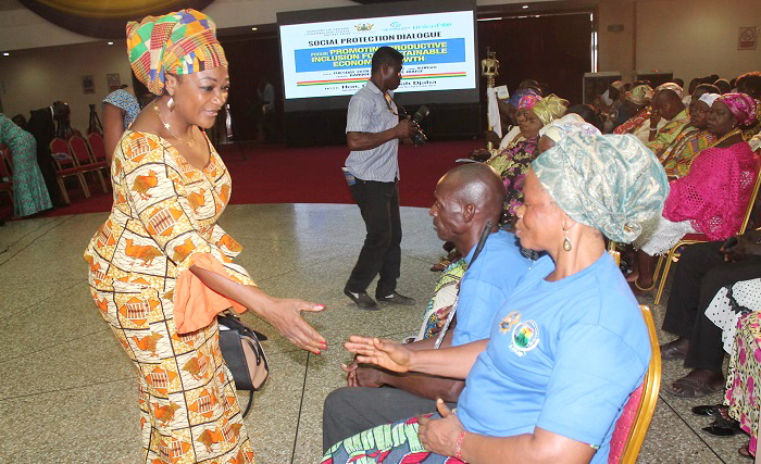 Women on social protection undergo skills training
