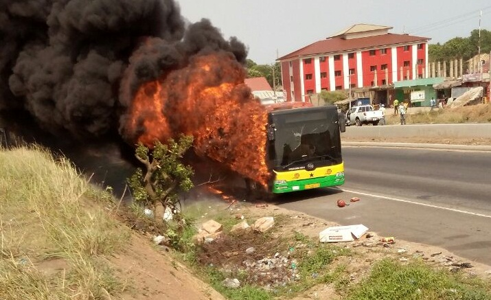 Photos: Fire destroys Metro Mass Transit bus