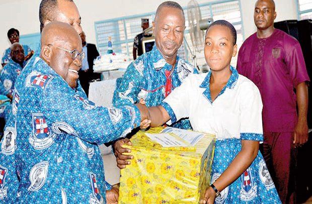 Nana Shows Love For Girls' Education