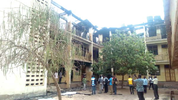 Fire destroys two-storey domitory of St Charles Minor Seminary