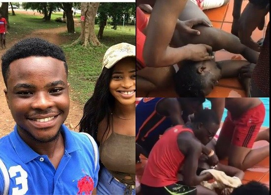 Video & PHOTOS: The Legon Student Who Drowned At The Poolside