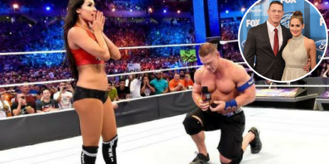 Video: Wrestling Legend John Cena Proposed Marriage To His Girlfriend In Front Of 70,000 Fans In The Ring