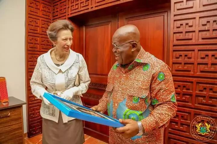 President Akufo-Addo welcomes Princess Anne to Ghana