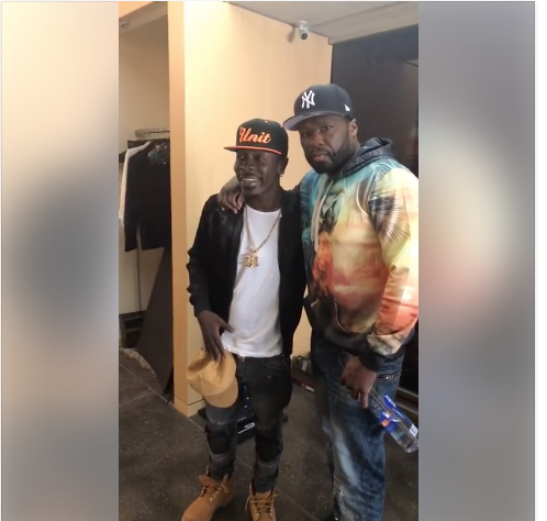 Shatta Wale Hangs Out With American Rapper 50 Cent-Photo