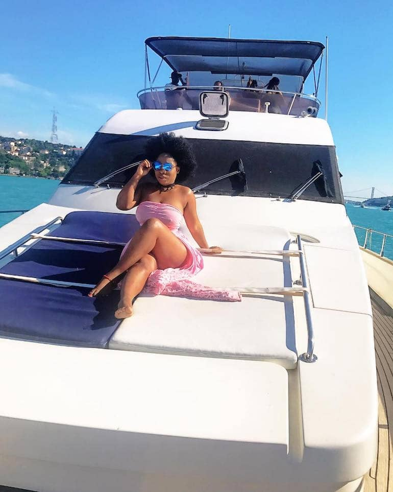 Big Butt And A Private Yacht–Someone Paid To Take Moesha Boduong On An Expensive Holiday In Turkey