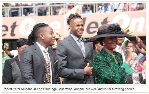 Mugabe's wife accused of beating model in a hotel