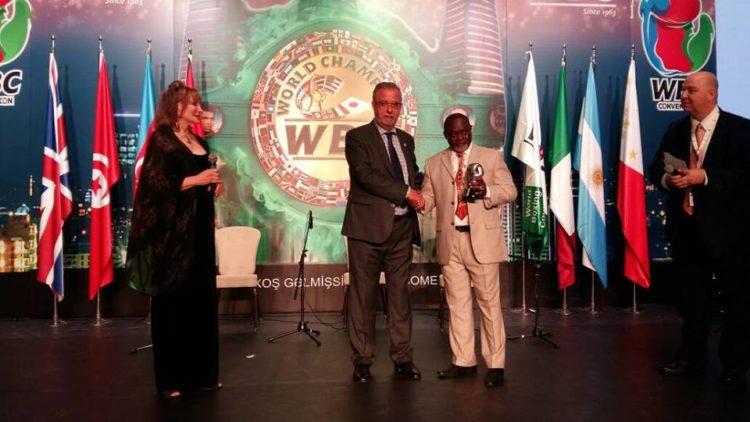 WBC Honours Ghanaian Legendary Boxer AZUMAH NELSON