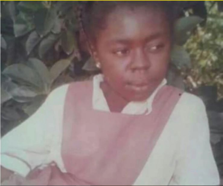 Throwback picture of Afia Schwarzenegger in primary school