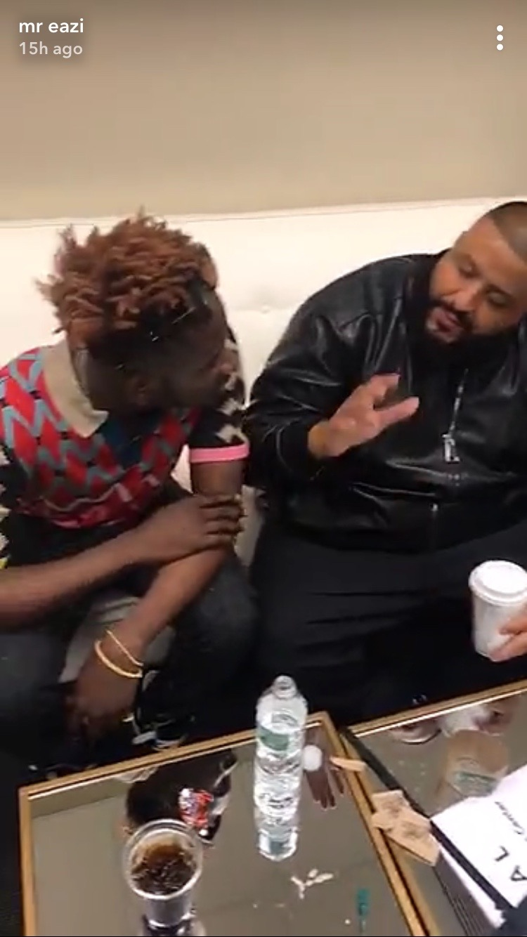 PHOTOS: Mr. Eazi Meets DJ Khaled & Rotimi Of Power Series