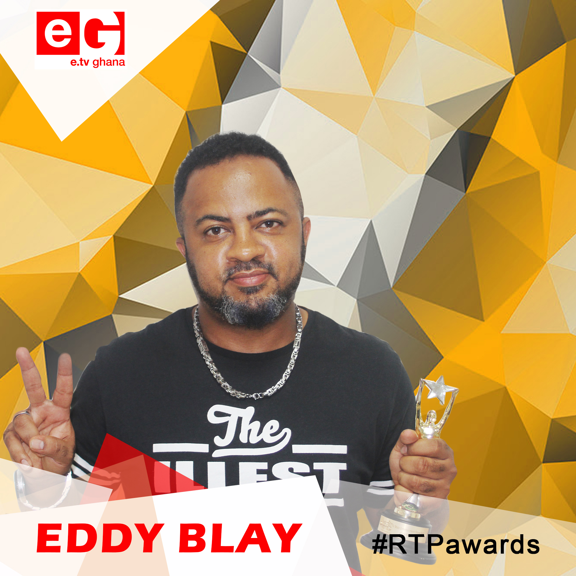 "Etv's ""The Late Night Celebrity Show"" Host Eddy Blay wins #RTPAwards17 ""Best TV Male Entertainment Show Host"""