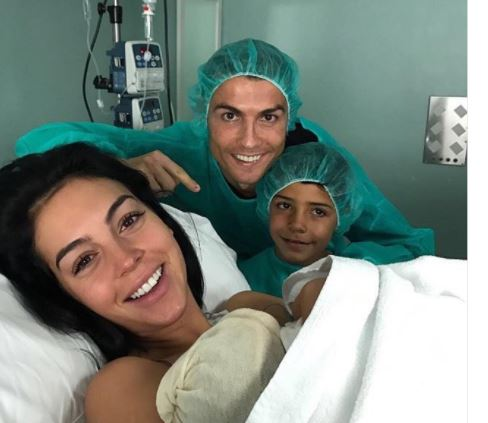 Cristiano Ronaldo Welcomes New Baby With Girlfriend Georgina