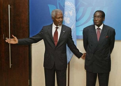 Kofi Annan calls for elections to resolve Zimbabwe political impasse