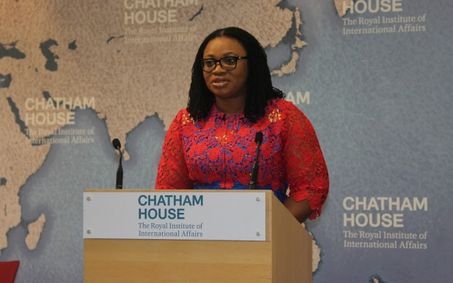 Charlotte Osei loses out on Chatham House award
