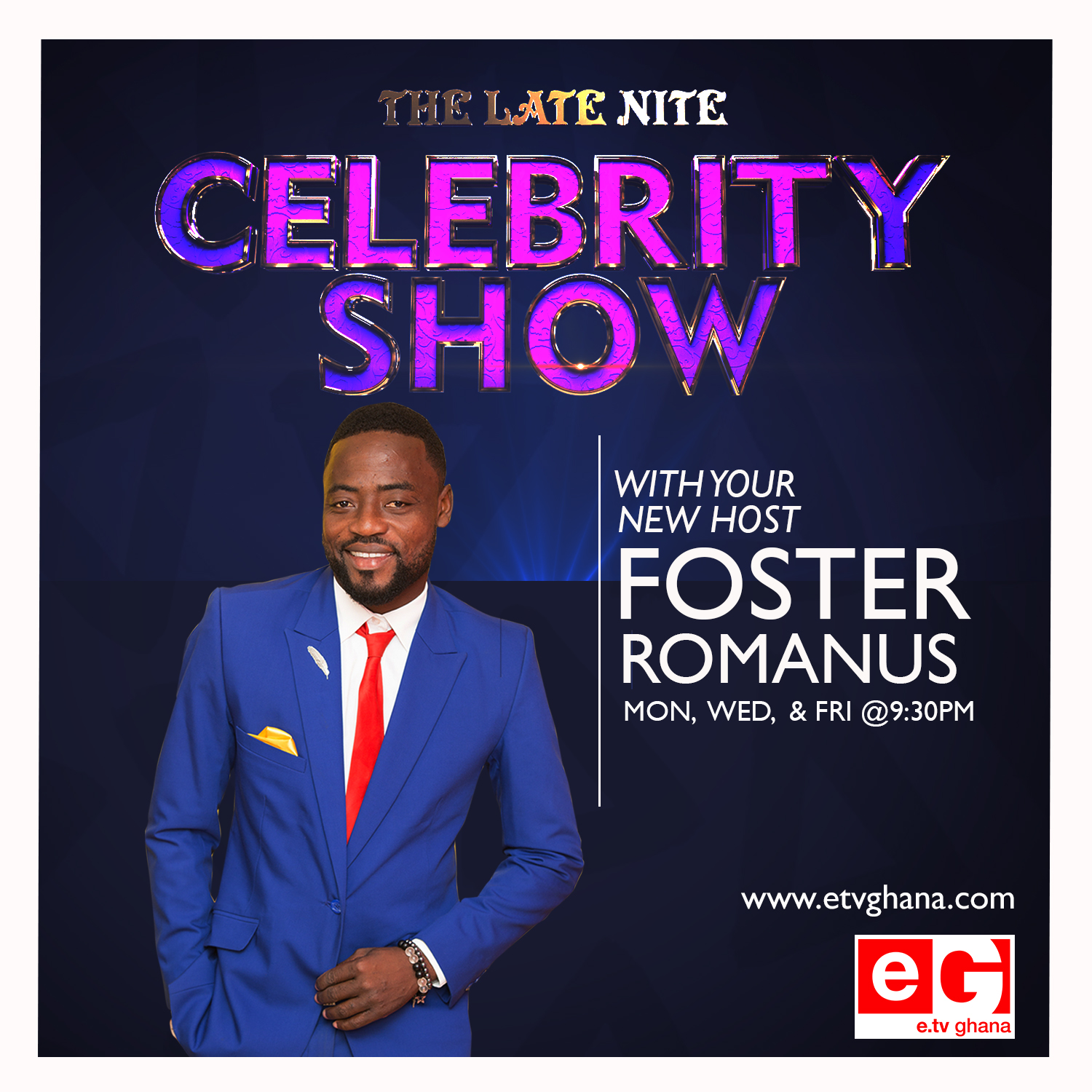 Foster Romanus Takes Over Late Nite Celebrity Show