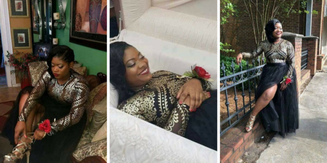 Young Girl Gets Internet Talking With Her Pre-Burial Photoshoot