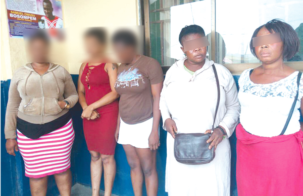Police arrest 35 suspected commercial sex workers at Kasoa