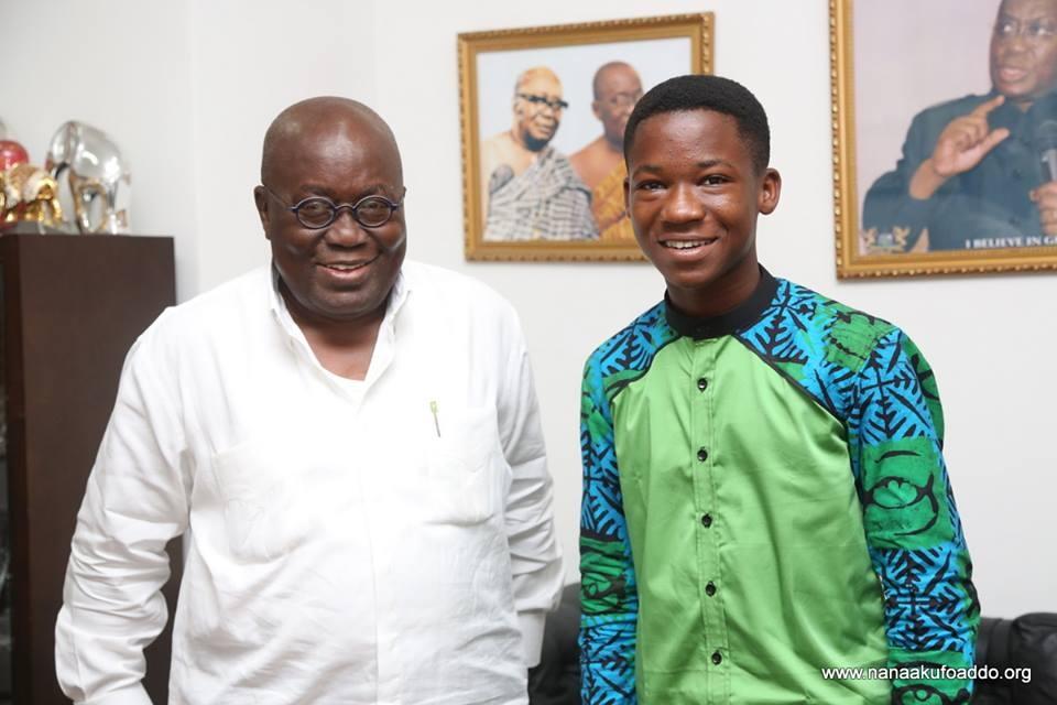 PHOTOS: Abraham Attah meets Nana Akufo-Addo