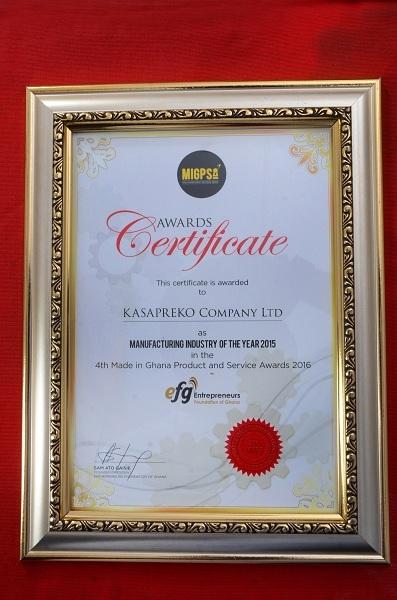 Kasapreko Founder Dr. Adjei Named Top Ghanaian Industrialist