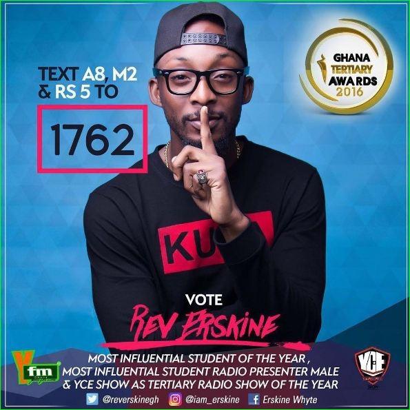YFM's Rev Erskine & YCE Show earn nomination in Ghana Tertiary Awards 2016