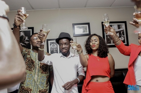 Akwaboah Jnr Surprised by family and friends on his Birthday [Photos]