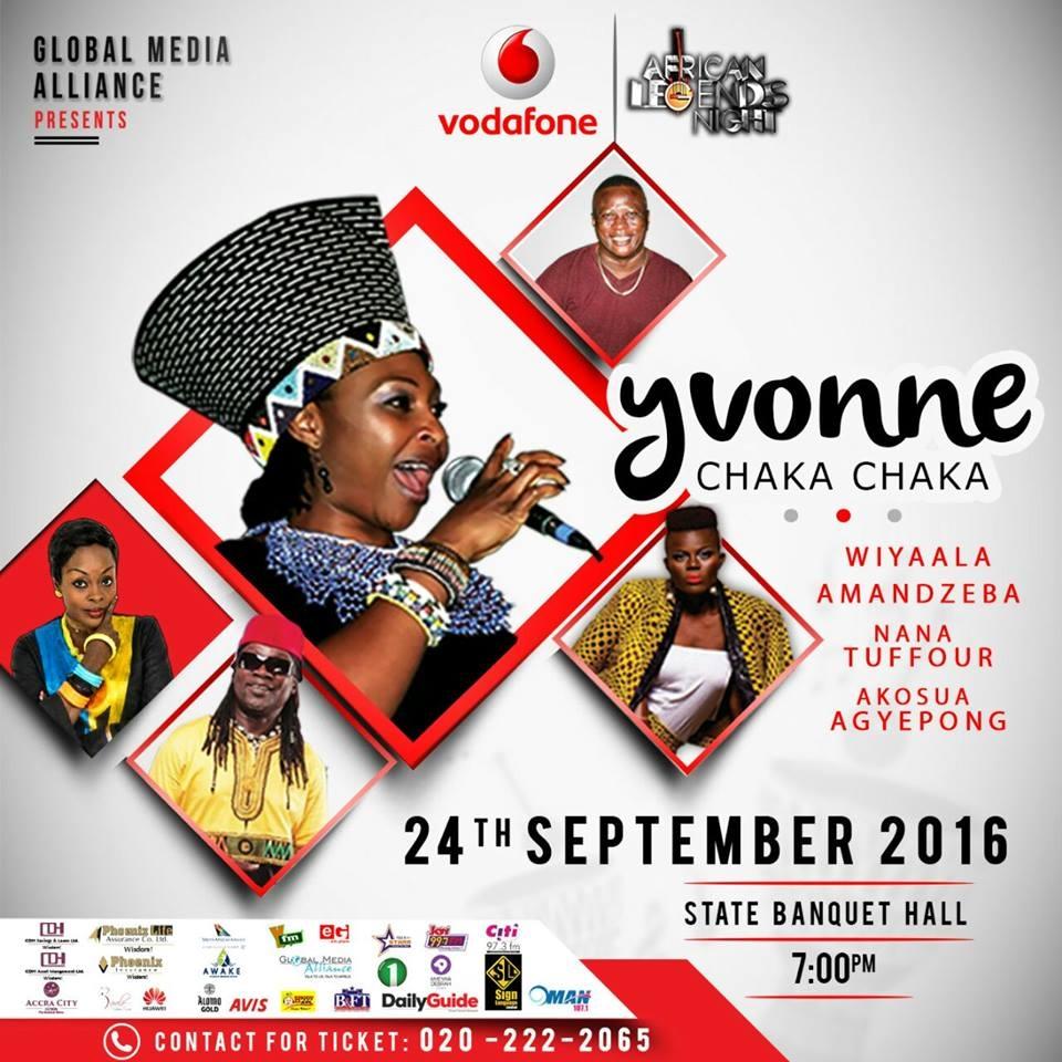Accra City Hotel to host Yvonne Chaka Chaka