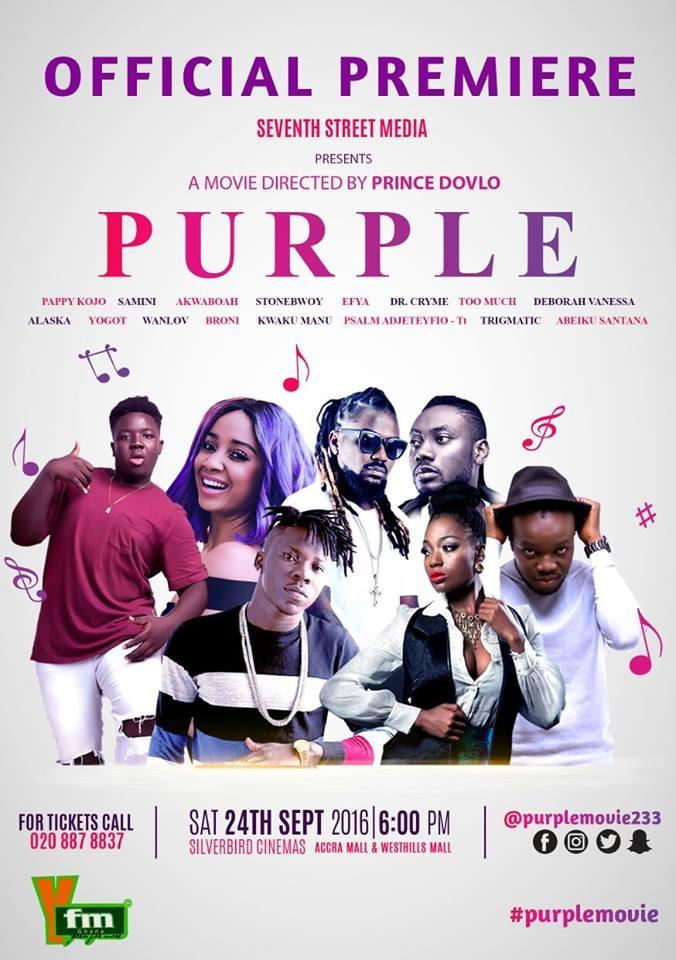 "Prince Dovlo to premiere ""Purple"" movie on Saturday"