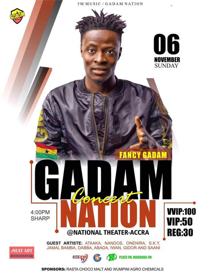 Fancy Gadam Set for 'Gadam Nation Concert' On November 6
