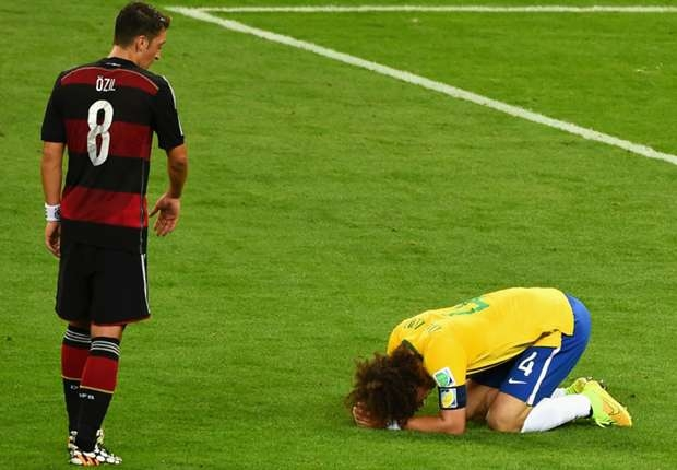 Ozil: I apologised to David Luiz after World Cup thrashing