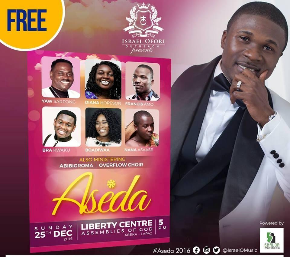#WhereToGoTODAY: Israel Ofori Presents 'Aseda' Music Concert TONIGHT