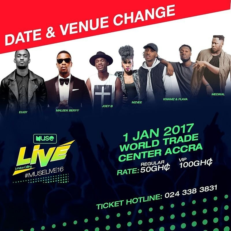 MUSELIVE16: New DATE & VENUE