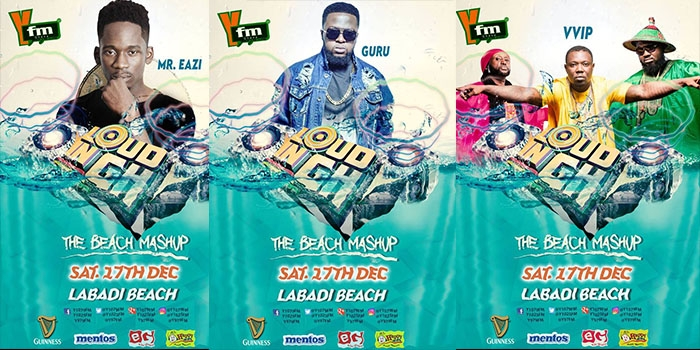 Mr Eazi, Guru, VVIP, Medikal and more to ROCK at This Year's LOUD in GH