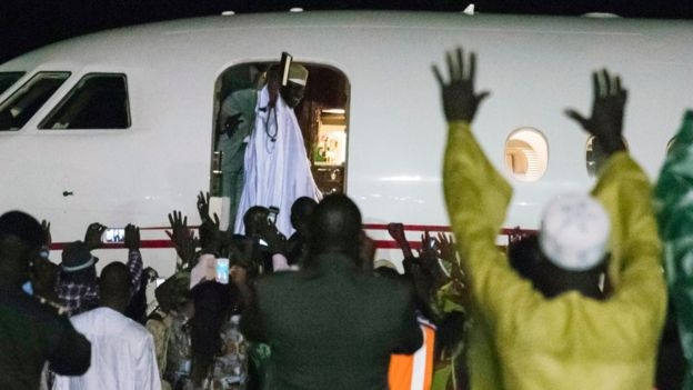 Yahya Jammeh leaves The Gambia after losing election
