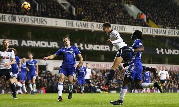 Tottenham's Dele Alli scores two to end Chelsea's winning run short of record
