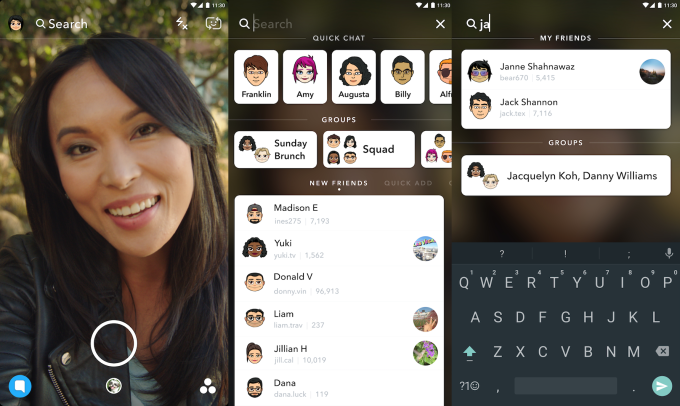 Snapchat launches universal search to simplify navigation