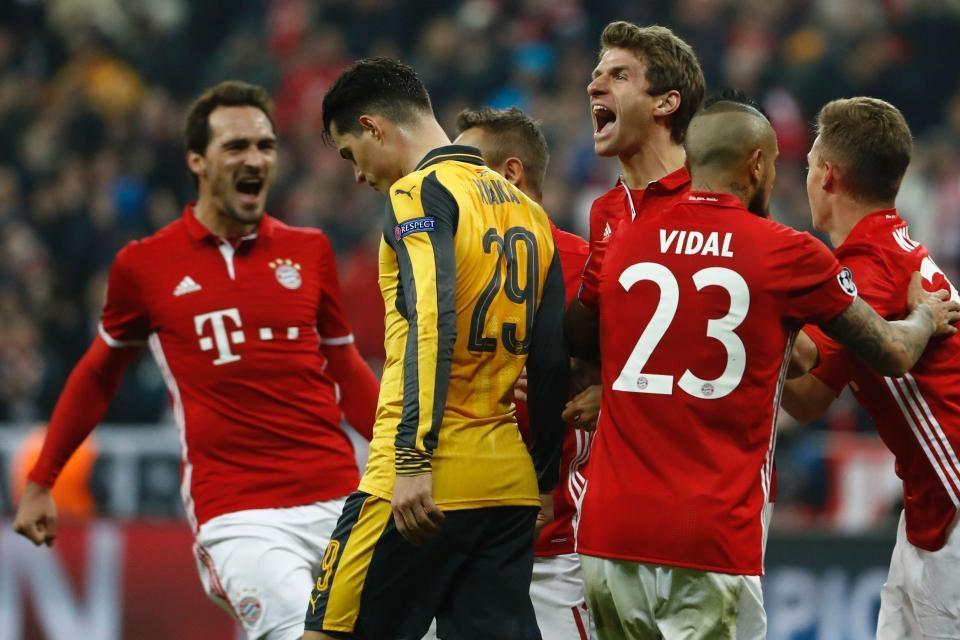 Arsenal FC embarassed By Bayern Munich