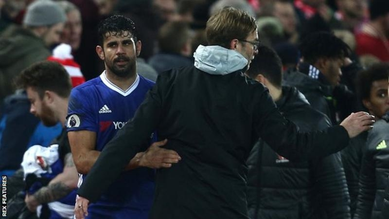 Jurgen Klopp says he could never be friends with Diego Costa