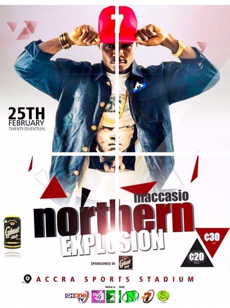 """Maccasio storms Accra with """"Northern Explosion"""" concert Feb. 25"""
