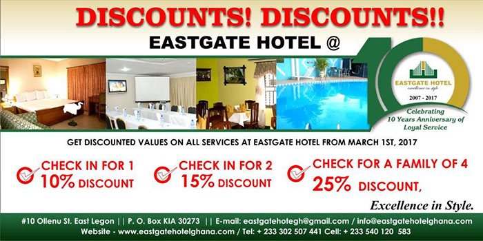 Discounts at EAST GATE HOTEL