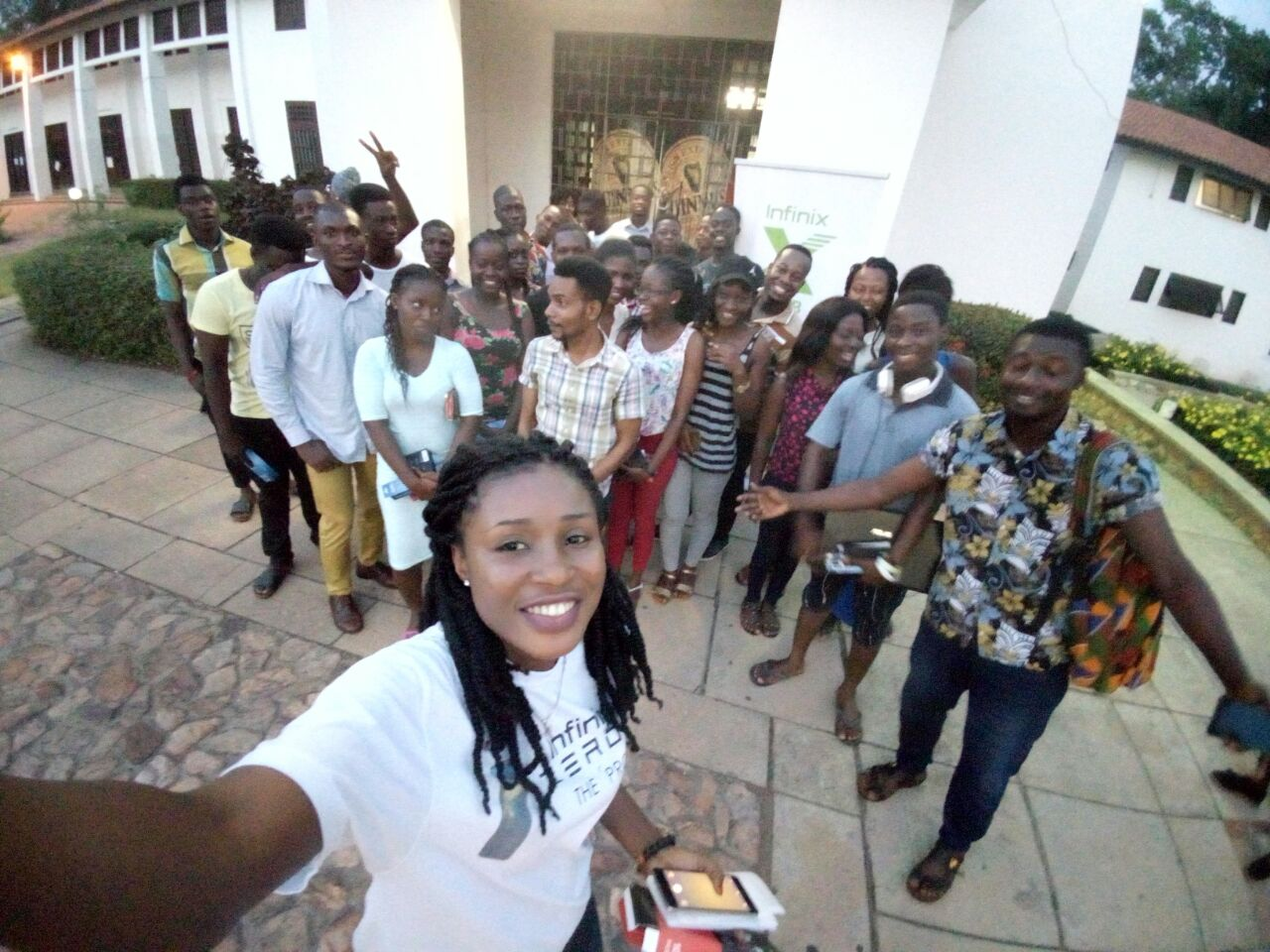 Infinix Ghana Meets Campus fans with 'X Fans'