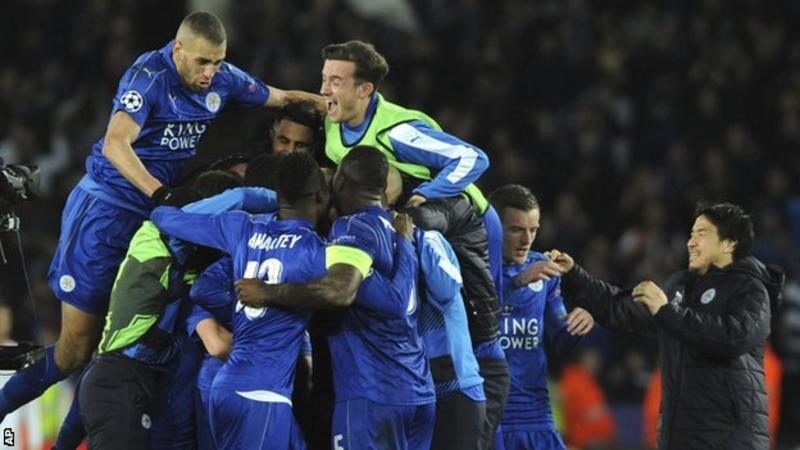 Leicester reach Champions League quarter