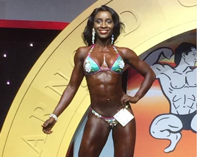 Bambie Bamfo Scoops Respectable 4th Place in 2017 ARNOLD CLASSIC Bodybuilding Bikini Contest