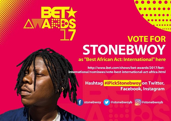 How to vote for STONEBWOY to win #BET2017 Best International African Act