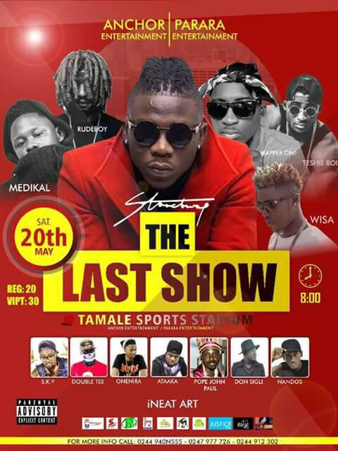 "STONEBWOY set to thrill Tamale with ""The Last Show"""