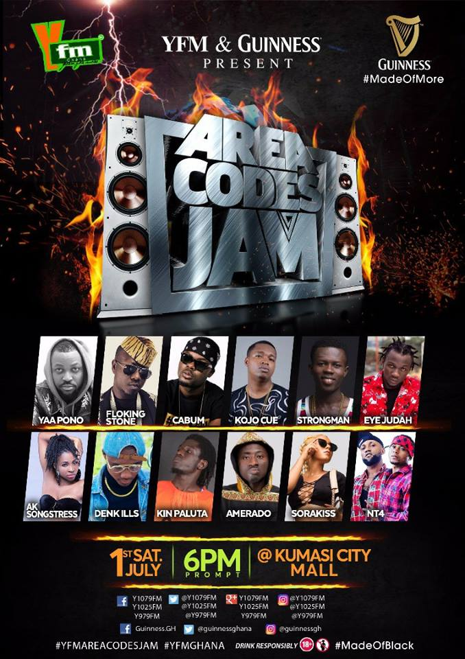 YFM Stars Readies For Area Codes Jam In Kumasi