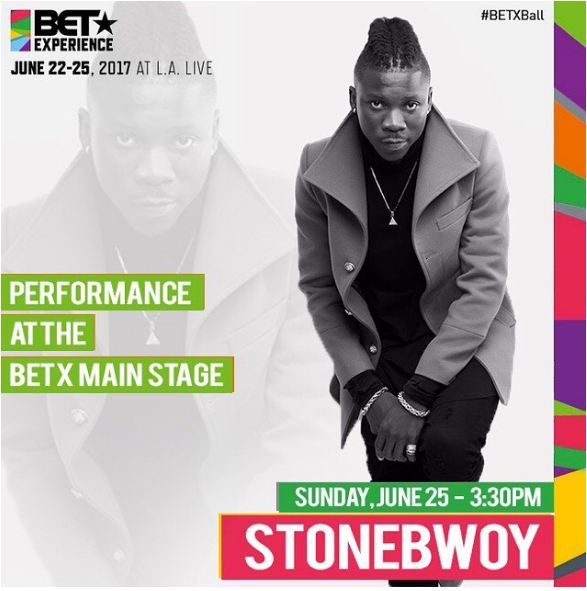 Stonebwoy To Perform On BETx Main Stage